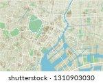 vector city map of tokyo with... | Shutterstock .eps vector #1310903030