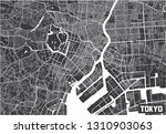 minimalistic tokyo city map... | Shutterstock .eps vector #1310903063