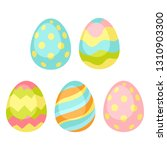happy easter seamless pattern... | Shutterstock .eps vector #1310903300