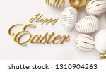 Happy Easter Luxury Background...