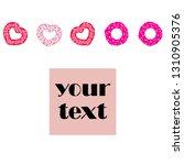 valentine's day  heart donut ...   Shutterstock .eps vector #1310905376