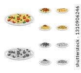 vector design of pasta and... | Shutterstock .eps vector #1310906246