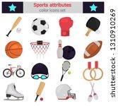 sports equipment color flat...   Shutterstock .eps vector #1310910269