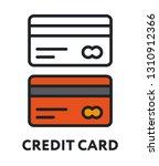 plastic credit debit card bank. ... | Shutterstock .eps vector #1310912366