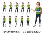 girl student character... | Shutterstock .eps vector #1310915330