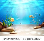underwater world nature scene... | Shutterstock .eps vector #1310916839
