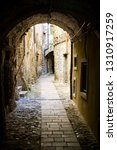 narrow cobbled streets of...   Shutterstock . vector #1310917259