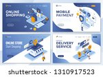 set of landing page design... | Shutterstock .eps vector #1310917523