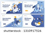set of landing page design... | Shutterstock .eps vector #1310917526