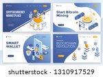 set of landing page design... | Shutterstock .eps vector #1310917529