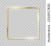 gold frame  realistic golden... | Shutterstock .eps vector #1310917820