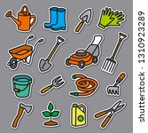 illustration of garden tools... | Shutterstock .eps vector #1310923289