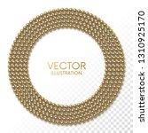 golden balls  in the form of... | Shutterstock .eps vector #1310925170