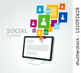 social icon group element... | Shutterstock .eps vector #131092628