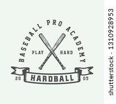 vintage baseball sport logo ... | Shutterstock .eps vector #1310928953