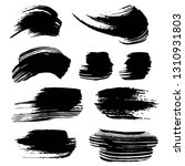abstract black ink strokes... | Shutterstock .eps vector #1310931803