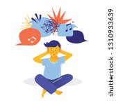 autism. early signs of autism... | Shutterstock .eps vector #1310933639