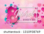 8 march. happy womens day...   Shutterstock .eps vector #1310938769