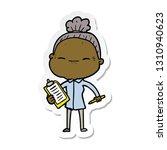 sticker of a cartoon peaceful... | Shutterstock .eps vector #1310940623