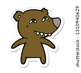 sticker of a cartoon bear... | Shutterstock .eps vector #1310940629