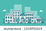 urban city landscape with... | Shutterstock .eps vector #1310953319