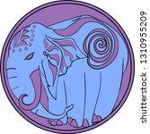 elephant element three colors   Shutterstock .eps vector #1310955209
