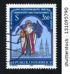 austria   circa 1985  stamp... | Shutterstock . vector #131095790