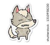distressed sticker of a cartoon ... | Shutterstock .eps vector #1310958230