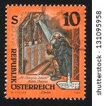 austria   circa 1994  stamp... | Shutterstock . vector #131095958