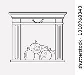 fireplace icon line element.... | Shutterstock .eps vector #1310968343