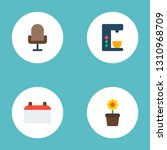 set of workspace icons flat... | Shutterstock .eps vector #1310968709