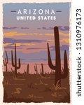 Arizona Desert Retro Poster....