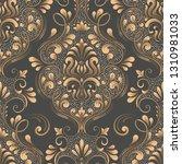 vector damask seamless pattern... | Shutterstock .eps vector #1310981033