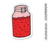 sticker of a cartoon home made... | Shutterstock .eps vector #1310989049
