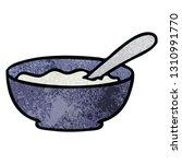 hand drawn quirky cartoon bowl... | Shutterstock .eps vector #1310991770