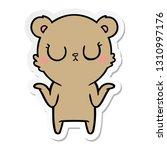 sticker of a peaceful cartoon... | Shutterstock .eps vector #1310997176