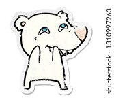 distressed sticker of a cartoon ... | Shutterstock .eps vector #1310997263