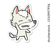 distressed sticker of a cartoon ... | Shutterstock .eps vector #1310997956