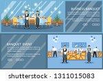 restaurant flat landing page... | Shutterstock .eps vector #1311015083