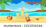 summertime lettering flat... | Shutterstock .eps vector #1311016166