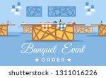 banquet room  hall flat vector... | Shutterstock .eps vector #1311016226