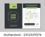 business flyer brochure design... | Shutterstock .eps vector #1311019376