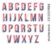colorful typography font design ... | Shutterstock .eps vector #1311019886