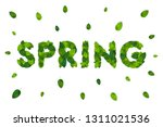 ecology theme happy earth day... | Shutterstock .eps vector #1311021536