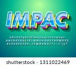 3d font effect with modern... | Shutterstock .eps vector #1311022469