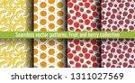 seamless pattern set. juicy...   Shutterstock .eps vector #1311027569
