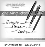ball pen  pencil  fountain pen... | Shutterstock .eps vector #131103446