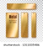 metal gold vertical banners set ... | Shutterstock .eps vector #1311035486