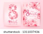 8 march vector illustration... | Shutterstock .eps vector #1311037436