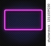 neon light rectangular banner.... | Shutterstock .eps vector #1311039230